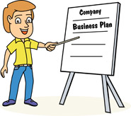 Chart with Company Business Plan